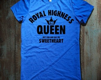 Royal Highness the Queen graphic print Women's Relaxed Fit Short Sleeve T-Shirt