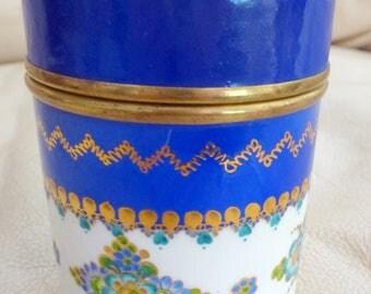 Vintage Brass Enamel Box Steinbock Email Studio Handmade Austria Brass 1970s