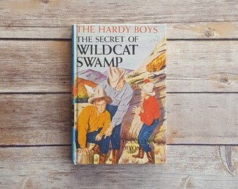 The Hardy Boys The Secret Of Wildcat Swamp 50s Teen Mystery Novel Number 31 Series Book 1950s Mystery Book Franklin Dixon Boys Vintage Gift