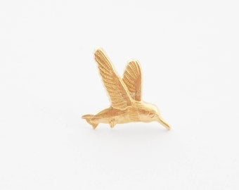 Hummingbird Pin, Hummingbird Tie Tack, Hummingbird Tie Pin, Gold Bird Tie Tack, Hummingbird  Lapel Pin, Hummingbird  Brooch, Hummingbirds