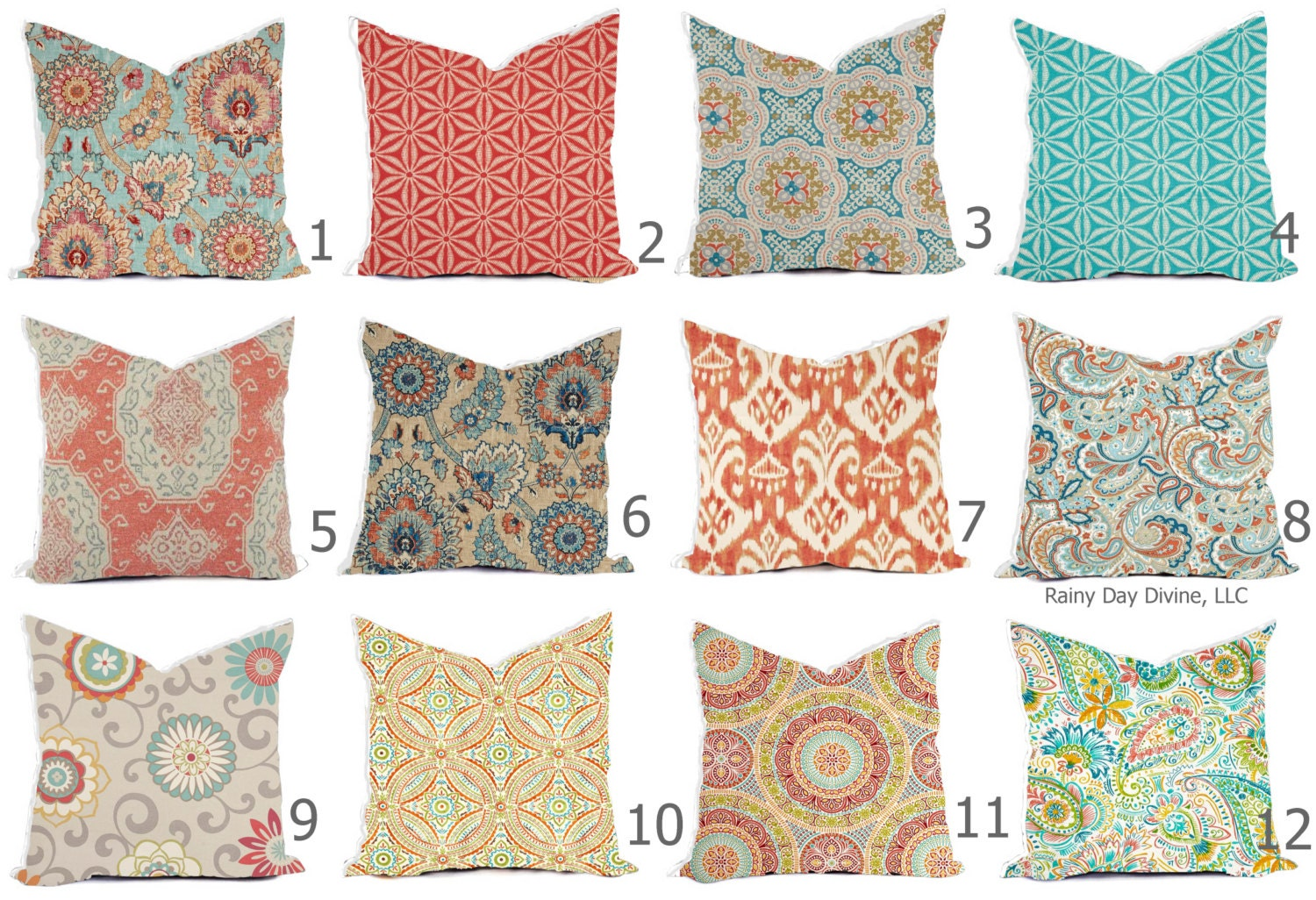 Pillows Covers Outdoor / Indoor Pillow Covers Custom 20x20, 20x20 ...