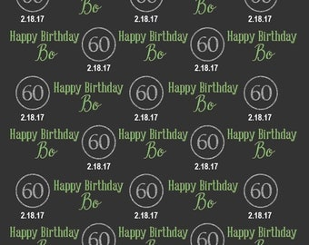 Sixth Birthday Party backdrop, Party Banner, Dessert Table backdrop, Faux Silver letter, Backdrop for boy and girl, Golden Birthday