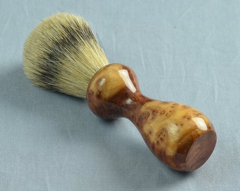 Red Melee Burl Shaving Brush, 20mm