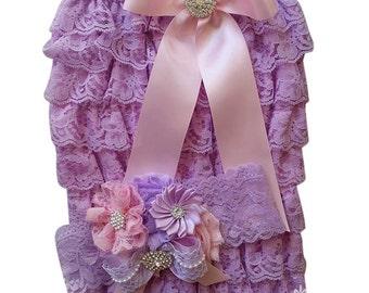 Lavender Petti Romper/Petti Romper Set/Petti Rompers/Lace Romper/Baby Lace Romper/Baby Lace Dress/Baby Petti Romper/Infant Petti Romper