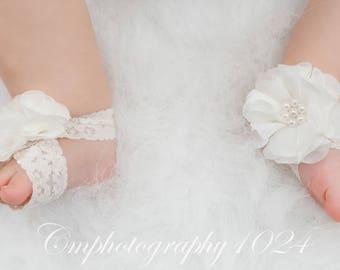 Barefoot Sandals/Baby Barefoot Sandal/Newborn Sandal/Baby Shoe/Photo Prop/Barefoot Sandal/Photo Prop Baby/Baby Outfit/Crib Shoe/Baby Shower