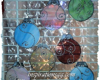 Stained glass ornament balls