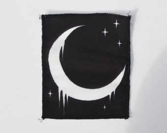 Pastel Goth Crescent Moon Patch Hipster Indie Swag Dope Hype Mens Womens Kawaii Gothic Lunar Moon