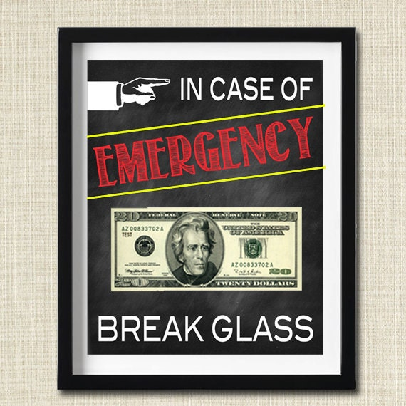 Bewitching image throughout in case of emergency break glass printable