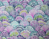 "18"" x 18"" Lilly Pulitzer Dobby Cotton Fabric Blue Oh Shello"