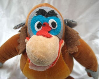 Mother's Day Gift Vintage 1960s Disney Jungle Book KING LOUIE Orangutan Toy Collectible