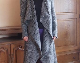 Extravagant Coat Wool Cashmere Playful Long Coat & Nara DP016