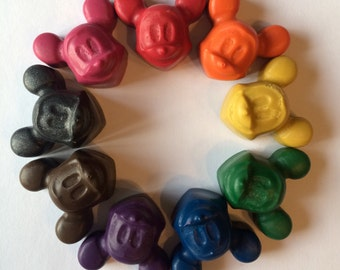 10 SETS of 8 Mickey Mouse crayons