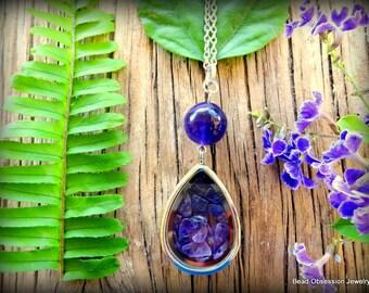 Amethyst Necklace; Purple Boho Pendant; Hippie Necklace; Bohemian Necklace; Amethyst Pendant Necklace; Long Boho Necklace; Australian Seller