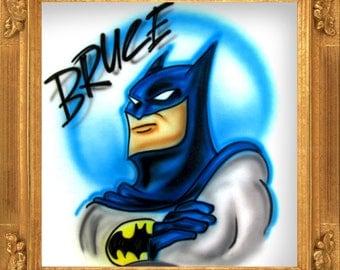 Bat Vigilante airbrush t-shirt