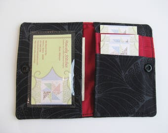 Mini Wallet,  Credit Card Wallet , Black Small Wallet