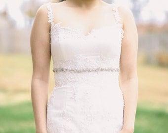 Narrow bridal belt , bridal sashes, wedding belts, dress sash - Style R103