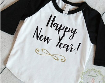 Kids New Years Outfit, Baby New Years Outfit, Baby's 1st New Year Shirt, New Years Kids Shirt N001