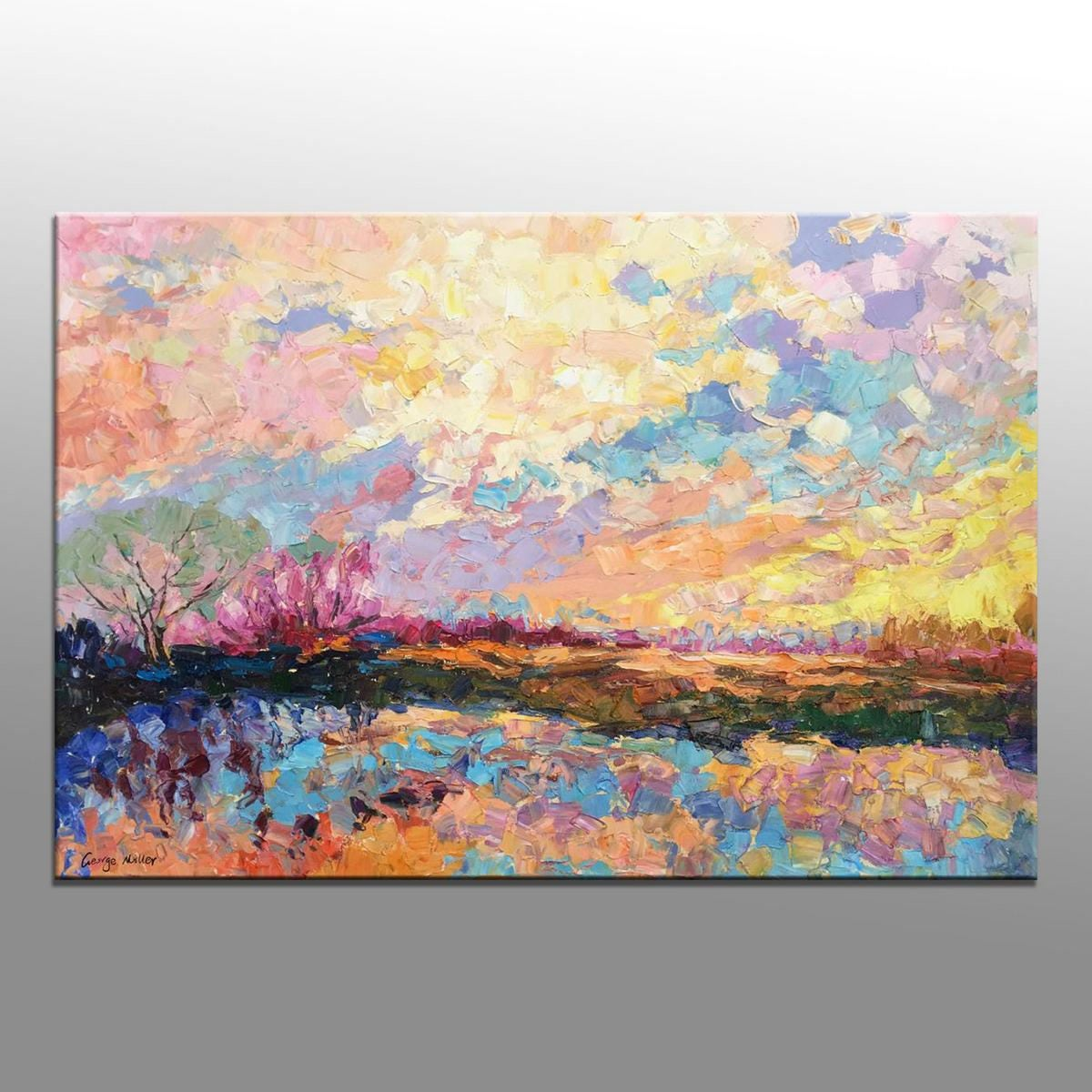 Abstract painting oil painting large abstract art original for Modern art canvas painting