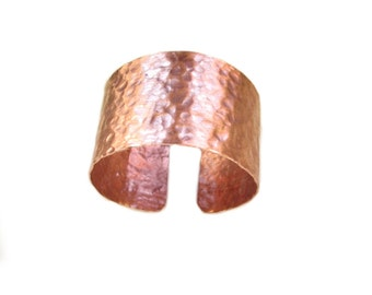Copper cuff men, copper bracelet mens jewelry hammered cuff big size