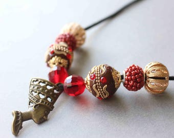 Nerfertiti Egyptian  Goddess Necklace
