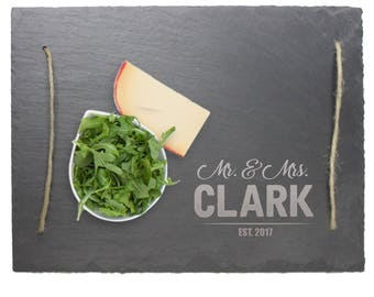 Slate Serving Tray, Engraved Serving Tray, Serving Tray Personalized, Engraved Serving Tray, Personalized Platter, Slate Cheese Board