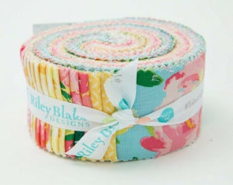 """Last one! Riley Blake Paige's Passion by Lila Tueller Rolie Polie 2.5"""" Fabric Quilting Strips Jelly Roll RP-5970-40"""