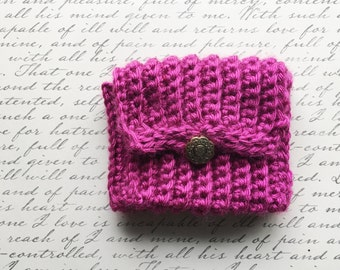 Wrist Pocket-Hot Pink with Gold Button