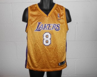 Vintage Reebok Gold Kobe Bryant #8 Los Angeles Lakers Jersey Youth Large