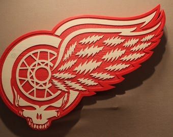 CUSTOM CARVED SIGN | hockey signs | sports signs | mascot signs | logo signs | grateful dead signs