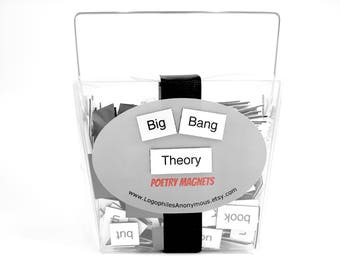 The Big Bang Theory Poetry Magnet Set - Refrigerator Poetry Magnets - Free Gift Wrap