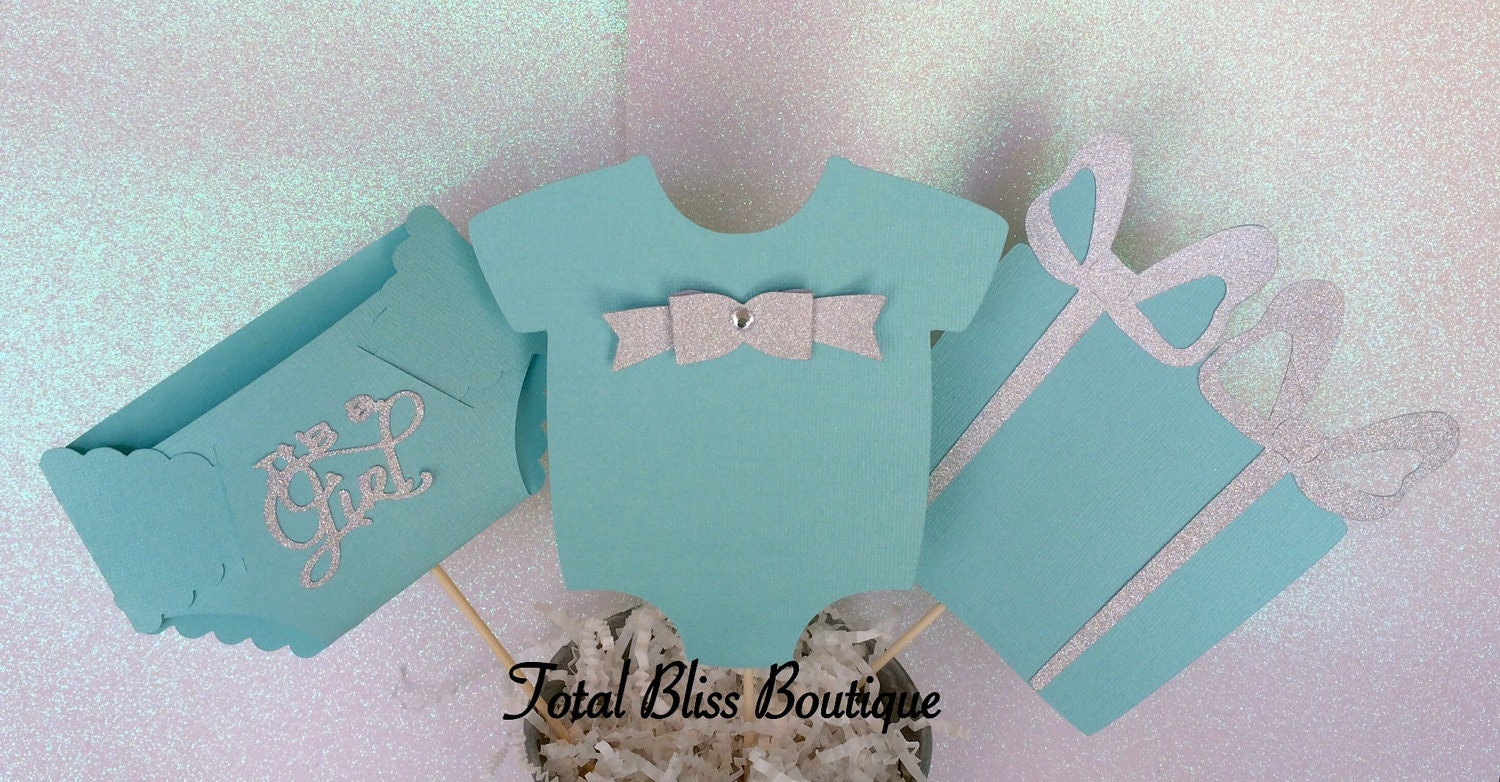 Turquoise Baby Shower Decorations Tiffany Baby Shower Etsy