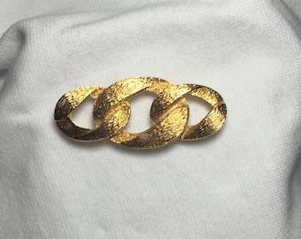Vintage Napier Gold Tone  Brooch Pin