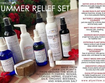SUMMER RELIEF SET || insect repellent || sunburn relief || happy hormones || non-greasy moisturizers || made of pure-plants