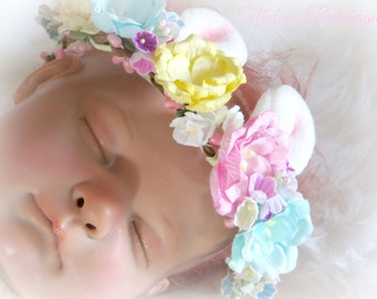 Little Bunny Foo-Foo Newborn Headband-Photo Prop-Easter-Pageant-Head Band-Floral-Birthday-Party-Cosplay-Costume-Custom Made-RTS