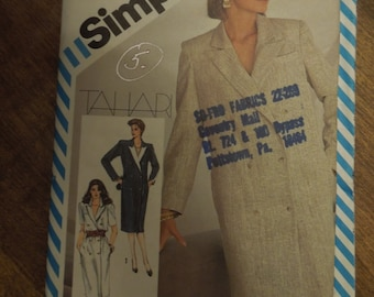 Simplicity 6266, size 8, lined/ unlined double breasted coat dress, UNCUT sewing pattern, craft supplies,