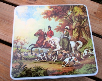 English Fox Hunt Tin