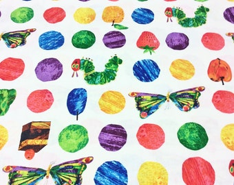 The Very Hungry Caterpillar Encore by Eric Carle for Andover Fabrics for Makower UK 7232/X Food Spot