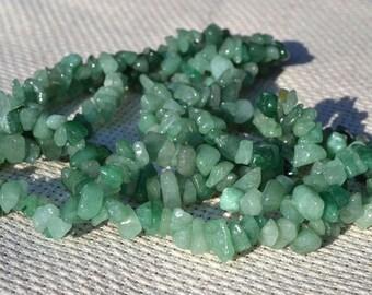 3 strands jade chips beads.