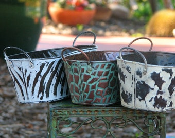Plant Containers three Vintage look Sale