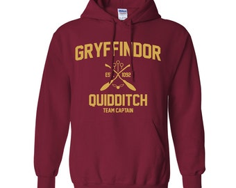 Harry Potter Sweatshirt Gryffindor Sweatshirt Harry Potter Gryffindor Quidditch Hogwarts Hoodie Sweater Sweatshirt Crewneck Apparel Unisex