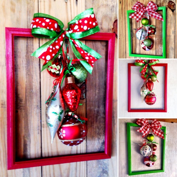 Christmas Wreath From 10x13 Picture Frame Picture Frame