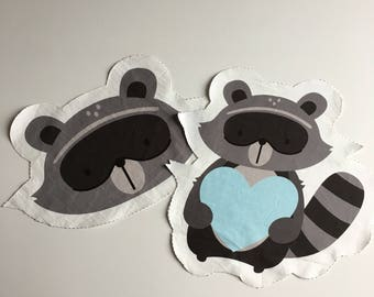 Nursery pillow Fluffy raccoon JUST PREORDER Malu