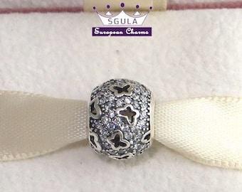 925 Sterling silver Charm European bead Fluttering Butterflies fit Pandora Charm bracelet and European Bracelets