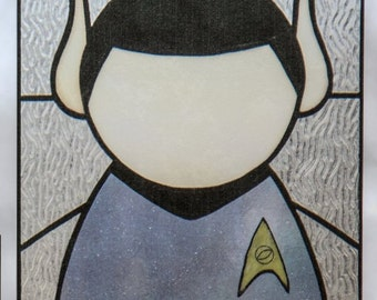 Spock Stained Glass Window Cling