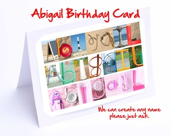 Abigail Personalised Birthday Card