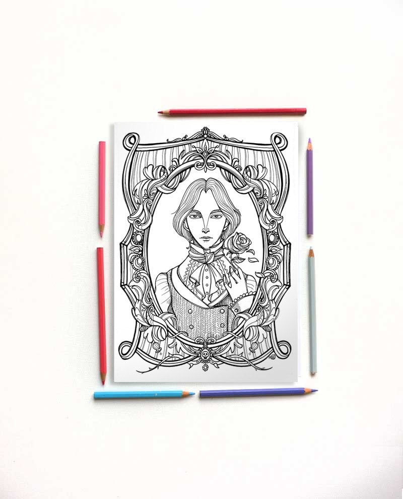 Coloring Page Oscar Wilde The Picture Of Dorian Gray