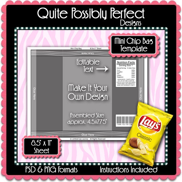 mini chip bag template instant download psd and png formats. Black Bedroom Furniture Sets. Home Design Ideas