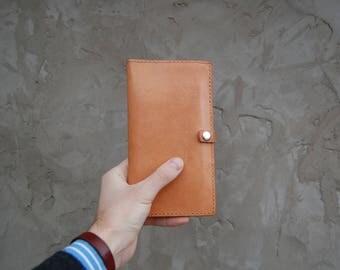 Leather Monogramed Travel Wallet, Passport wallet, Personalized, Travel Passport Holder, Document organizer, Boarding pass holder, mens gift