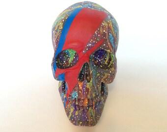 David Bowie Painting Ziggy Stardust Painted Skull The Walking Dead Rock & Roll Music Street Art Graffiti Spray Paint Artistic Home Office