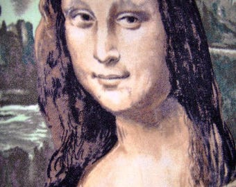 CLEARANCE Mona Lisa Fleece Panels La Gioconda